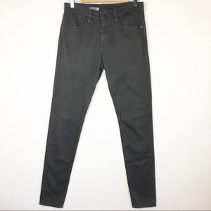 AG High Rise The Farrah Skinny Gray Mist Jeans 30